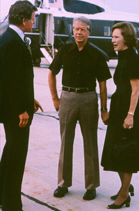 Jimmy Carter, Rosalynn Carter and Ted Kennedy