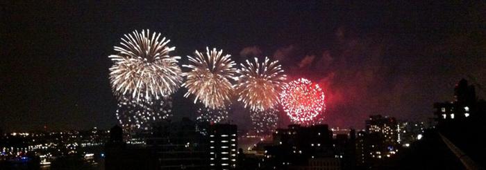 NYC fireworks photo by Jay Bryant