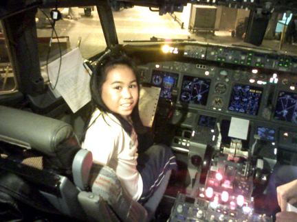 Isabel in the flight deck