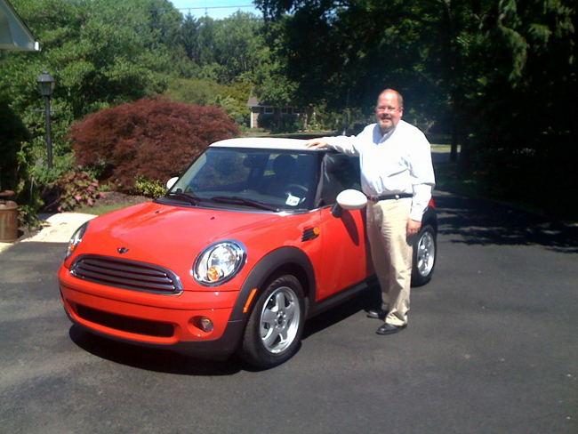 Jay Bryant with Mini Cooper