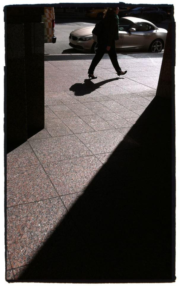New York City Street Scene with Shadows Photo by Jay Bryant West Windsor NJ