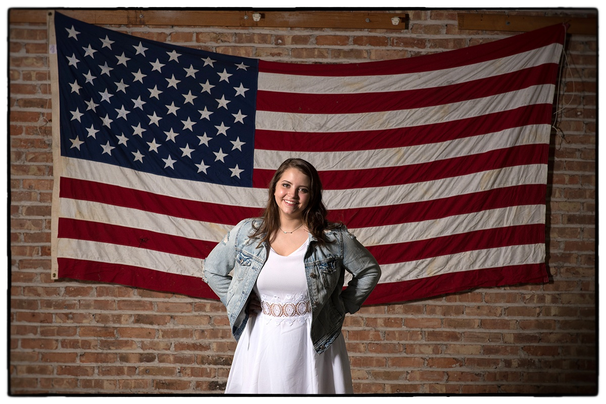 Patriotic portrait of my cousin Kaylin Janicke shot in Rockford IL last month. Enjoy the holiday!